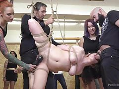 European Slut Gets Tied-Up, Humiliated, and Fucked in Public