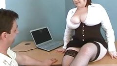 Big Tits Boss Nikki Punishes Porn Watcher