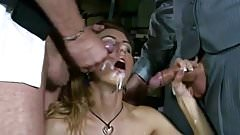 25-Year Old Hottie Takes a Gooey Double Facial