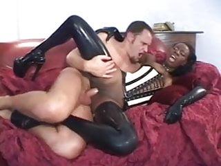 Ebony beauty loves big white cock