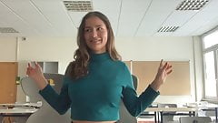 German Teen Mary 18yo first time porno introduction tits