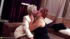Kinky moms and grannies fuck a