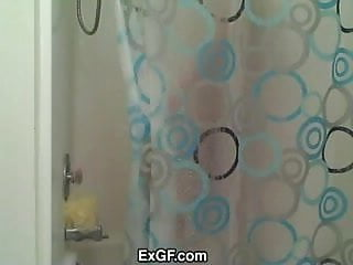 EXGF Amber in the Shower