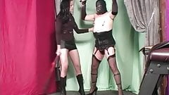 Mistress punishing and whippin