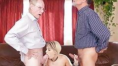 Presley Carter Gives Blowjob And Fucks Grandpa