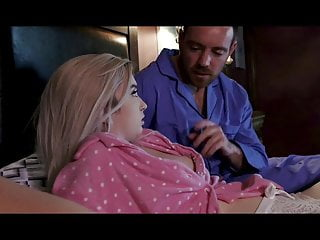 Tiny model stepdaugther hard time punish fuck from the flat