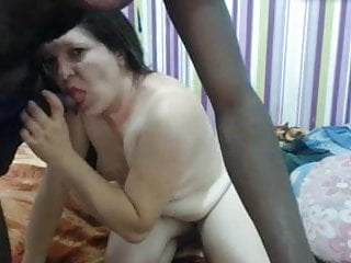 White girl takes on a BBC in her mouth and pussy