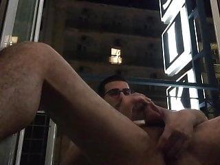 caught jerking off hotel balcony