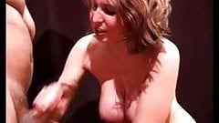 Bimbo with big tits gives quickie hand job to music.'s Thumb