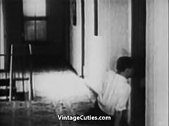 Parents' Bedroom is Perfect Place for Sex (1930s Vintage)