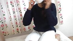 Japanese Surgical mask with pretty nice hand's Thumb