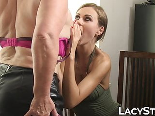 Doctor Lacey Starr pussy licking in hot lesbian threesome