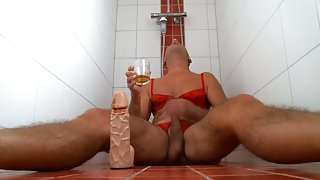 olibrius71 anal play, piss drink