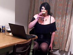 Tgirl smoking