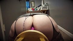 Fat Ass Sissy Dildo Play