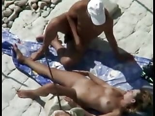 Nude Beach - Hot Little Tit Redhead Play & Fuck