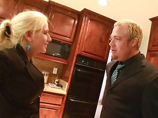 Dude Grabs Babes Gorgeous Breasts In The Kitchen