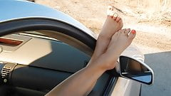 feet out the window