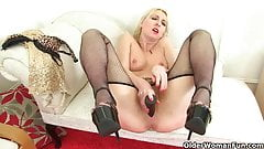 British milfs Tracey Lain and Abi Toyne fuck a dildo
