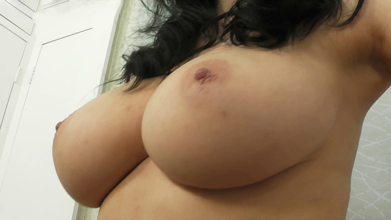 18 Years Old Teen With Huge Rock Hard Natural Big Tits-4342