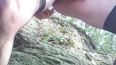 black dildo on the rock