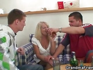 Hot Some Party With Blonde Grandma