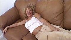 Horny milf sucking cock