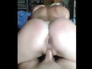 Riding daddys cock reverse cowgirl
