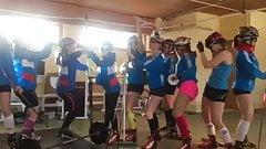 Russian female biathlon team shows off twerking skills in su