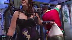 Huxly Tickle Tortures Boy Wonder - Dick Dastard, Saharra Hux