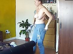 Blonde Milf Mom Mum Mature Topless - Hacked IP Camera
