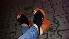 platform wedges - high heel sandals