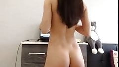Slim babe with perfect tight litte round ass butt