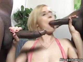 Real Estate agent girl Clara pleases black customers