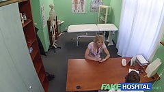 FakeHospital Super sexy curvy blonde accepts dirty doctor