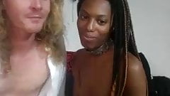 Scandinavian dude sucked by Black Queen