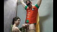 Ivy Tickles and Jerks Off Robin