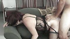Aussie wife gets her arse covered in cum