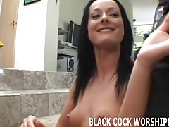 Watch me satisfy two big black cocks at the same time