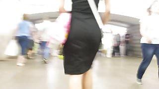 Sexy ass in black dress