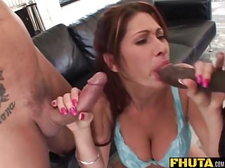 Fhuta - Milf slut loves to get both holes stretched