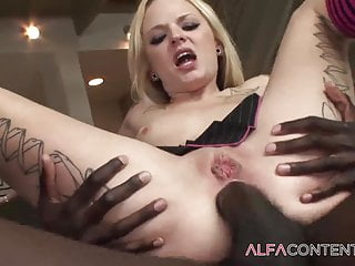 BBC loving slut enjoys getting fucked in ass and pussy