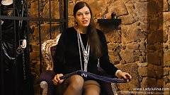 JOI FemDom German Samt Pantyhose High Heels