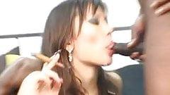 Escort Ella smoking fetish cum shot cigar