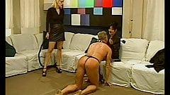 Lesbian BDSM ho punish a guy
