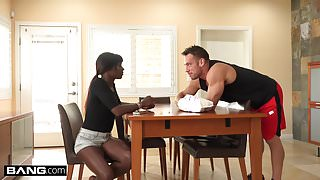 BANG Confessions Ana Foxxx Fucks her step bro's white cock
