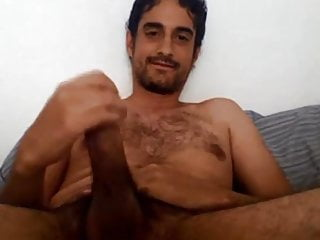 Hot guy with big mushrom shooting on his face