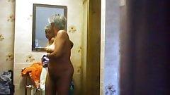 Unaware Mature Showering