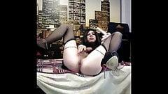 i fucking my ass and masturbate in black (Vladasexytrans)