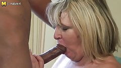Big granny fucks young black boy